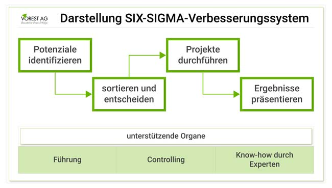 6 Sigma Verbesserungssystem
