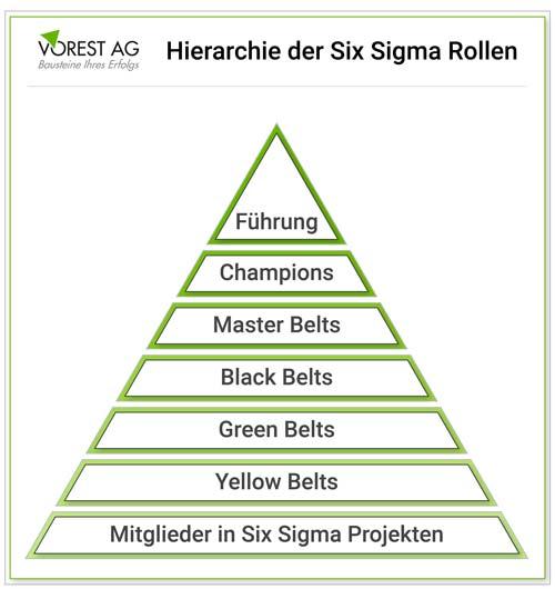 Six Sigma Belts und Rollen - Hierarchie
